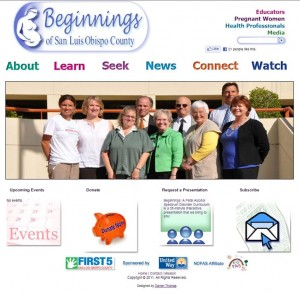 Beginnings of San Luis Obipso web site